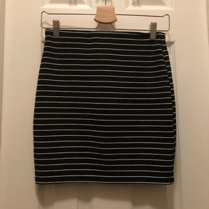 Zara striped miniskirt